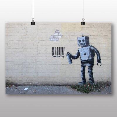 Big Box Art Banksy Robot Graffiti Photographic Print