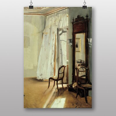 """Big Box Art """"Balcony Room"""" by Adolph Menzel Art Print Wrapped on Canvas"""