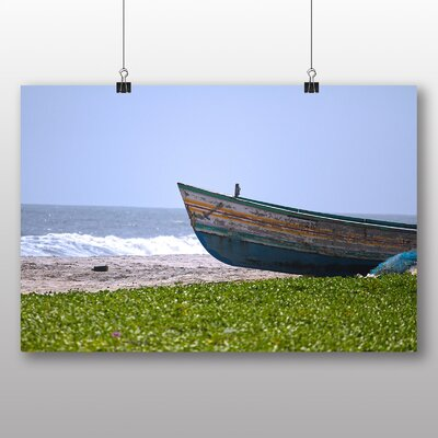 Big Box Art Boat Upon the beach Graphic Art on Canvas