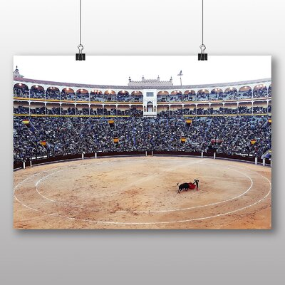 Big Box Art Bullfight Bullfighting Ring No.3 Photographic Print Wrapped on Canvas