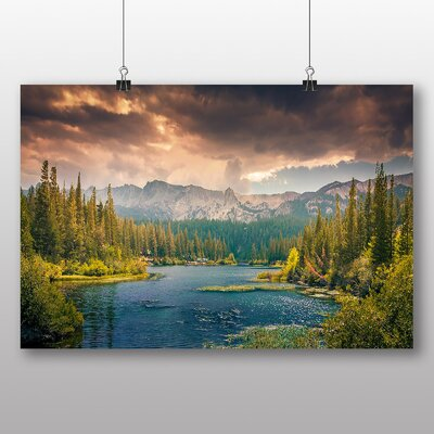 Big Box Art Landscape Mountains, Nature and Clouds Photographic Print