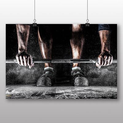 Big Box Art Body Building Fitness Weights No.2 Photographic Print Wrapped on Canvas