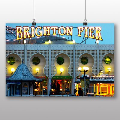 Big Box Art Brighton Pier Photographic Print Wrapped on Canvas