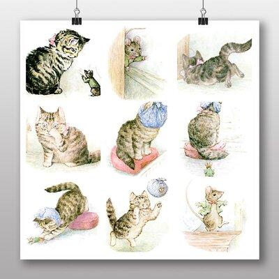 Big Box Art 'The Tale of Miss Moppet' by Beatrix Potter Art Print