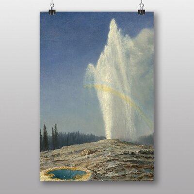 Big Box Art 'Old Faithful, Geyser Yellowstone' by Albert Bierstadt Art Print