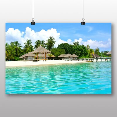 Big Box Art Beach Maldives No.2 Photographic Print Wrapped on Canvas