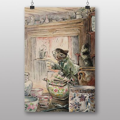 Big Box Art 'Simpkin Goes Out' by Beatrix Potter Art Print