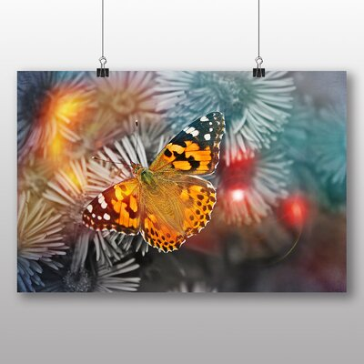 Big Box Art Butterfly No.2 Graphic Art Wrapped on Canvas