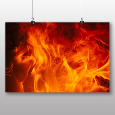 Big Box Art 'Burning Flames Fire' Photographic Print