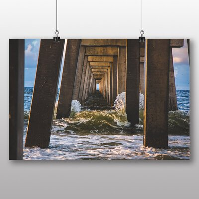 Big Box Art 'Bridge Landing Ocean' Photographic Print