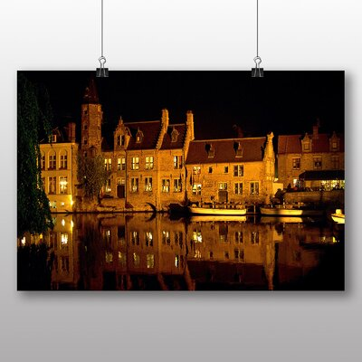 Big Box Art Bruges Belgium Photographic Print Wrapped on Canvas