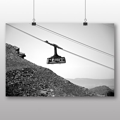 Big Box Art Cable Car Photographic Print Wrapped on Canvas
