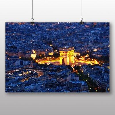 Big Box Art Arc De Triomphe Skyline Paris France Photographic Print