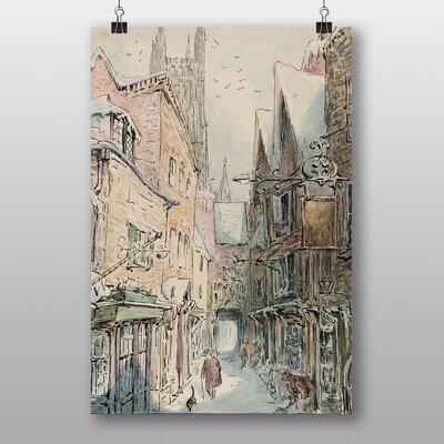 """Big Box Art """"Simpkin Goes Out No.2"""" by Beatrix Potter Art Print Wrapped on Canvas"""