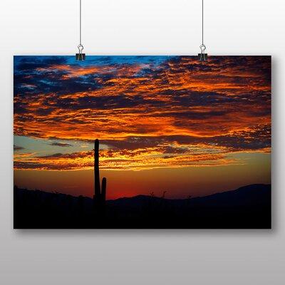 Big Box Art Cactus Sunset No.3 Photographic Print Wrapped on Canvas