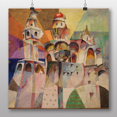 "Big Box Art ""Jack of Diamonds"" by Aristarkh Lentulov Art Print on Canvas"