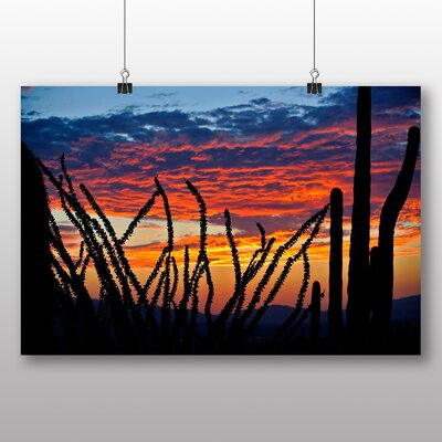 Big Box Art Cactus Sunset No.5 Photographic Print Wrapped on Canvas