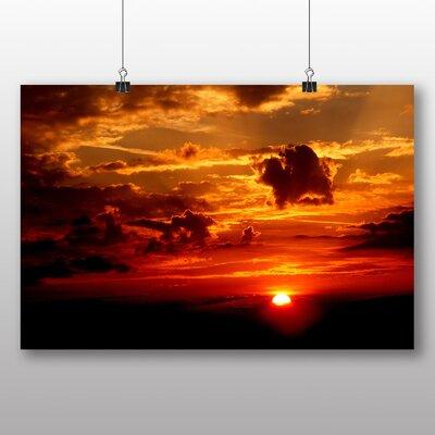 Big Box Art Beautiful Sunset No.3 Photographic Print on Canvas