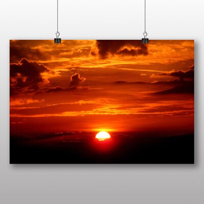Big Box Art Beautiful Sunset No.1 Photographic Print Wrapped on Canvas