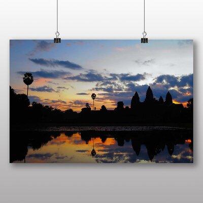 Big Box Art Cambodia Sunset Photographic Print on Canvas