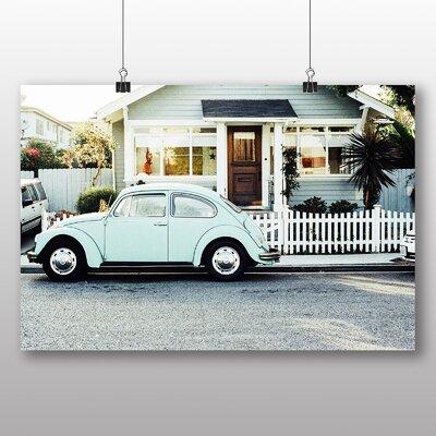 Big Box Art Beetle Vintage Classic Car No.3 Photographic Print on Canvas