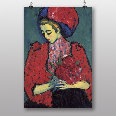 Big Box Art 'Holding Flowers' by Alexi Von Jawlensky Art Print
