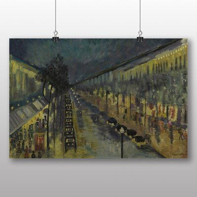 Big Box Art 'Paris, the Boulevard Montmartre at Night' by Camille Pissarro Art Print