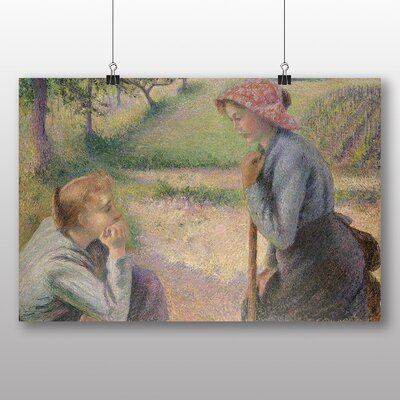 Big Box Art 'Two Young Peasant Women' by Camille Pissarro Art Print