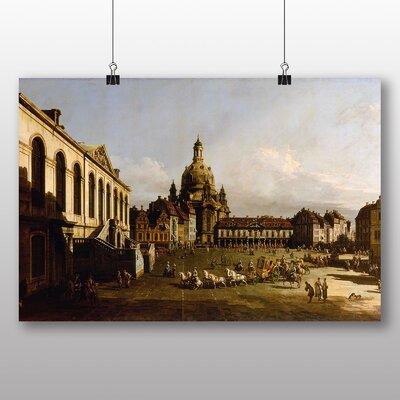 Big Box Art 'Marketplace in Dresden' by Bernado Bellotto Canaletto Photographic Print