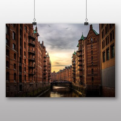Big Box Art 'Canal Through the Buildings' Photographic Print