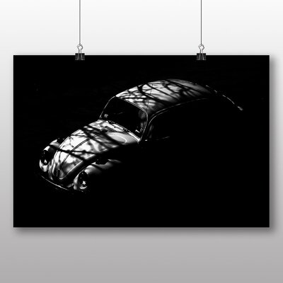 Big Box Art Beetle Vintage Classic Car No.2 Photographic Print Wrapped on Canvas