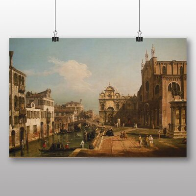 Big Box Art 'Landscape with Buildings No.2' by Bernado Bellotto Canaletto Art Print