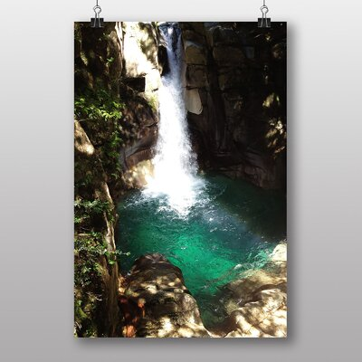 Big Box Art Beautiful Waterfall No.2 Photographic Print Wrapped on Canvas