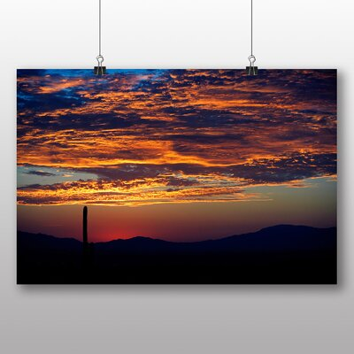 Big Box Art Cactus Sunset No.1 Photographic Print Wrapped on Canvas