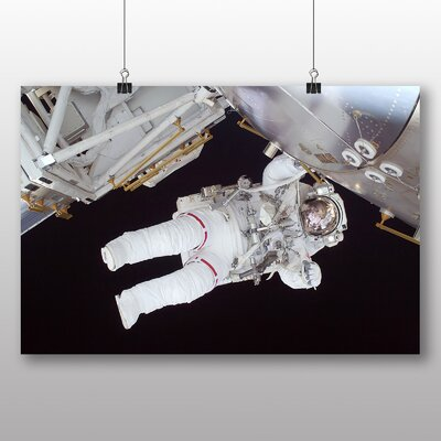 Big Box Art Astronaut Space Shuttle No.1 Photographic Print Wrapped on Canvas
