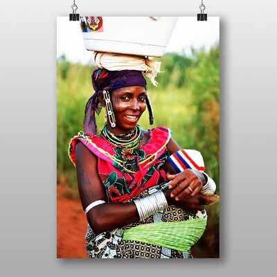 Big Box Art Benin Mother and Baby Photographic Print Wrapped on Canvas
