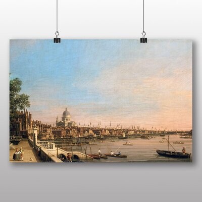 Big Box Art 'St Pauls Cathedral' by Bernado Bellotto Canaletto Art Print