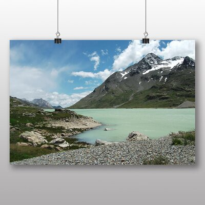 Big Box Art Bergsee Mountain Switzerland Photographic Print on Canvas