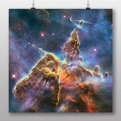 Big Box Art Carina Nebula Clusters of Stars Space No.1 Graphic Art on Canvas