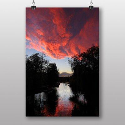 Big Box Art Cambridge Sunset Photographic Print Wrapped on Canvas