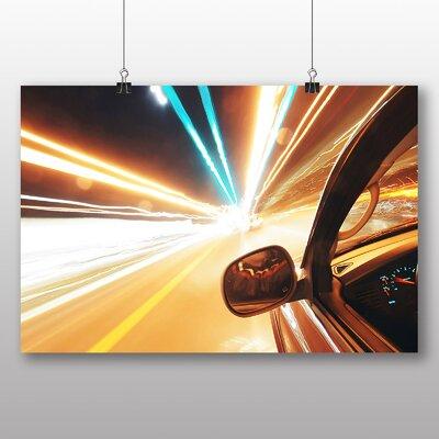 Big Box Art Car Traffic Blurred Lights Photographic Print