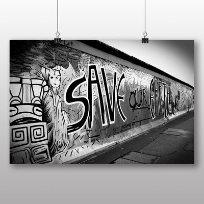 Big Box Art Berlin Wall Germany Graffiti No.1 Photographic Print Wrapped on Canvas