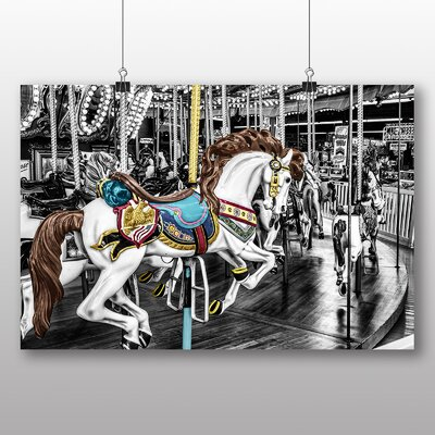 Big Box Art Carousel Horse No.2 Graphic Art Wrapped on Canvas