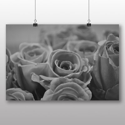 Big Box Art Black and White Roses Photographic Print Wrapped on Canvas