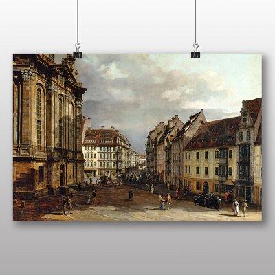 Big Box Art 'Landscape with Buildings No.1' by Bernado Bellotto Canaletto Art Print