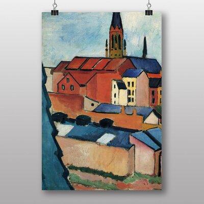 "Big Box Art ""Buildings"" by August Macke Art Print"