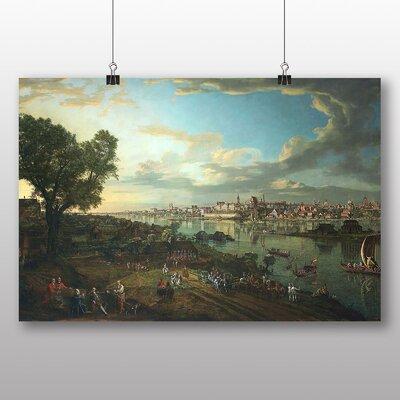 Big Box Art 'View of Warsaw from Prague' by Bernado Bellotto Canaletto Art Print