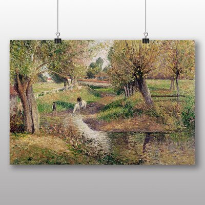 Big Box Art 'Landscape and Stream' by Camille Pissarro Art Print