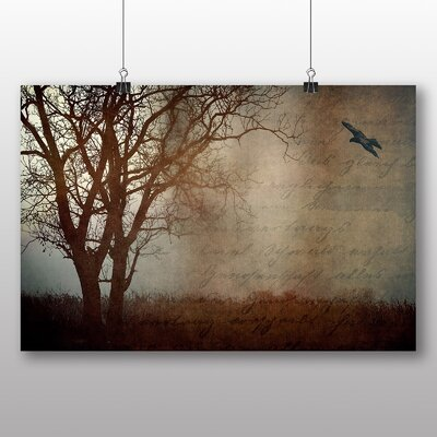 Big Box Art Bird and Tree No.1 Graphic Art Wrapped on Canvas