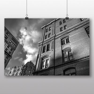 Big Box Art 'Black and White City House' Photographic Print
